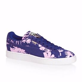 Ladies Puma Classic Purple Tropical Suede Trainers UK 4