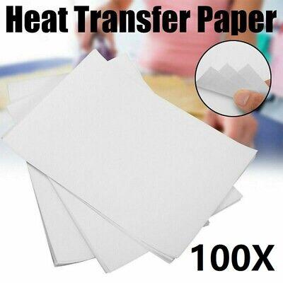 100 Pcs A4 Heat Transfer Paper For Diy T-shirt Painting Paper Light Fabric Cloth