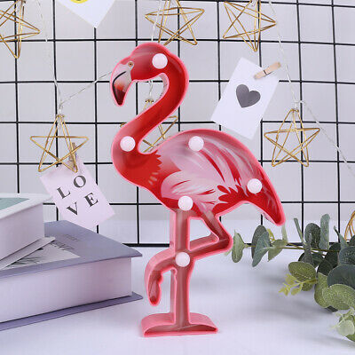3D Flamingo Shaped LED Night Light Kids Table Lamp Cute Gift Home Bedroom Decora