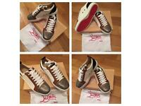 Christian Louboutin White Loubs Unisex Size 11 Trainers Sneakers Shoes Footwear Box & Dust Bag