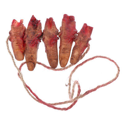 Latex Abgehackte Blutige Finger Abgetrennte Körperteile Halloween Spielzeug