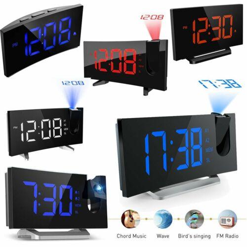 Digital LED Alarm Clock Projection SNOOZE Timer FM Radio Cei