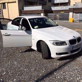 BMW 3 SERIES WHITE 2010 REG DIESEL SALOON 4DR 318d