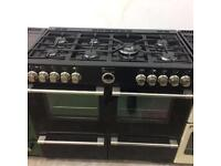 Black stoves 110cm gas cooker grill & double ovens good condition with guarantee