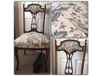 Vintage chair reupholstered in Sanderson print