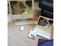 MACBOOK LAPTOP A1181 4.1 AND IMAC DESKTOP 5.1 IN FULL WORKING ORDER AND IN EXCELLENT CONDITION