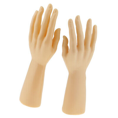 1 Pair Man Male Mannequin Hand Jewelry Watch Display Holder Stand 12 Skin