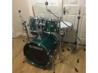 Fully Refurbished Matt Green Yamaha Stage Custom Drum Kit // Free Local Delivery