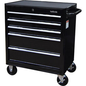 Brand NEW Halfords 5 Drawer Tool Cabinet / Tool Box / Black / 2018 / FREE Local Delivery