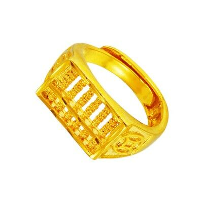 1Pc Gold Ring Decorative Stylish Creative Abacus Ring Gold Ring for Women Dating