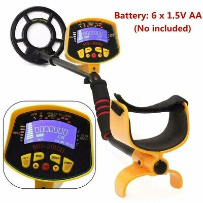 Md-3010ii Metal Detector Gold Digger Deep Sensitive Light Hunter Lcd Display New