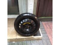space saver tyre and wheel for vauxhall safira 08 plate.
