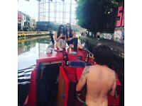 Canal boat for sale, London, new engine and wood interior, ready to live, kitchen, bathroom, 39ft