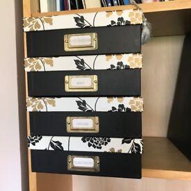 Laura Ashley A4 storage boxes x 4