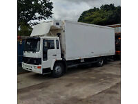 Left hand drive Volvo FL614 180 HP Turbo 14 Ton Thermoking fridge freezer box lorry with tail lift.