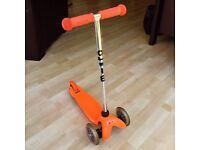 Mini Micro T-Bar Scooter for sale - orange- great condition!