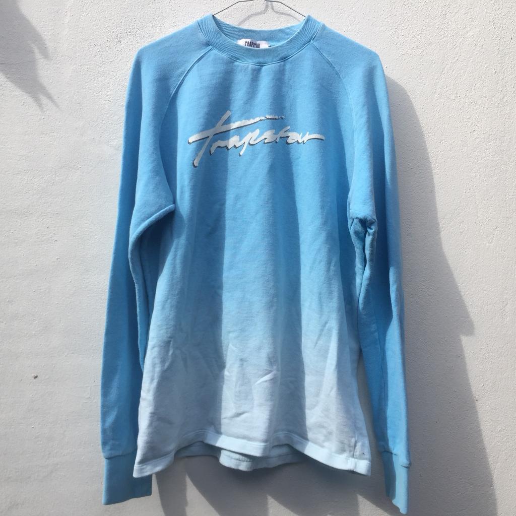 Trapstar blue sweatshirt size medium