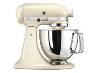 KitchenAid 175 Artisan 4.8L Stand Mixer - Almond Cream