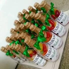 Mini champaign sweet bottles