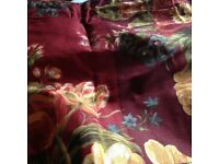 NEW Quilt, valence and 2 shams (cushion covers) Queen/Double from USA in russet/gold/moss colours