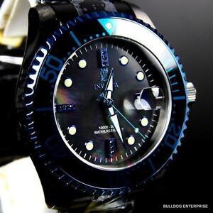 6386e95c8cc Invicta JT Jason Taylor Grand Diver Black Diamonds Automatic 47mm MOP Watch  New