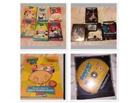 Family guy bundle, dvds, book and ps2 game