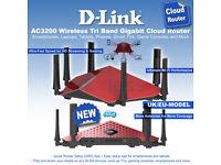 D-Link Wireless Router AC3200 DIR-890L Gaming 4k Tv Router BNIB