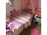 Kids princess horse carriage bed