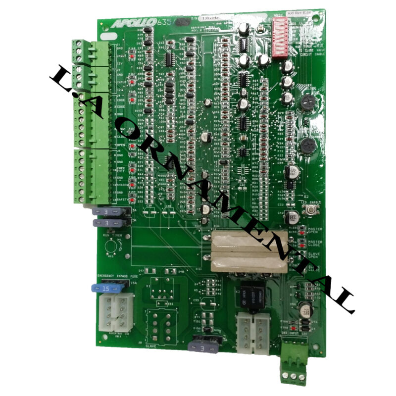 Apollo 635 Non-etl Single Gate Control Board 1500 Swing Operator Replacement 636