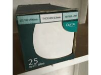 Cristal wall tiles X 25 NEW IN BOX 100mm X 100mm 5.5 boxes available