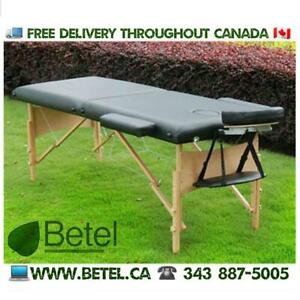 WWW.BETEL.CA || Premium Portable Mobile Massage Tattoo Table Bed - Black with Accessories