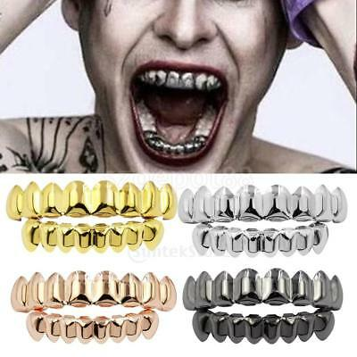 JOKER GRILL 8 Teeth Top Bottom Fake Mouth Grills for Halloween Costume - Fake Grill Teeth