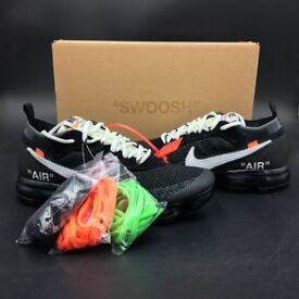 Off White x Vapor Max - The Ten - Limited Sizes - black with box