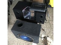 2 Car subwoofers and amplifiers