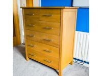 Chest of Drawers Solid Oak