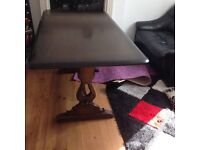 Dining Table in Dark brown colour beautiful finish