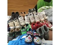 Boys trainers, shoes snd slippers including converse, clarks, Nike