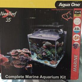 New Aqua One 35L Saltwater Aquarium
