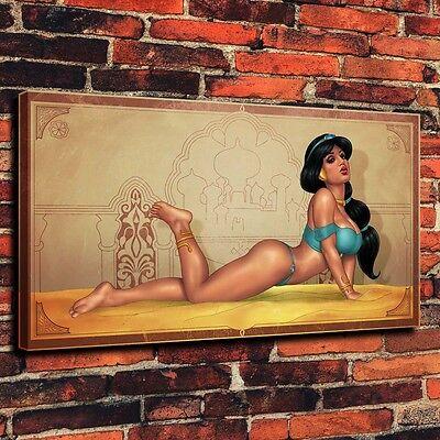 "HD Art Canvas Print Oil Painting Jasmine Disney Princess Jasmine Girl ,16""x28"""