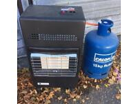 Calor gas fire with Empty gas bottle, delivery available for fuel cost