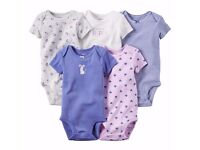 Baby Rompers Pack Bundle Clothes 0-6 or 6-12 Months Set Girls Bodysuits 5 Carter Cotton Nautical