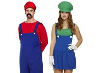 super mario and luigi fancy dress outfit costume
