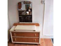 Shabby Chic Dressing Table with Large Mirror