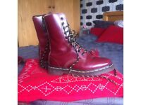 Red Dr Martens / Docs, size 5 and in great condition!