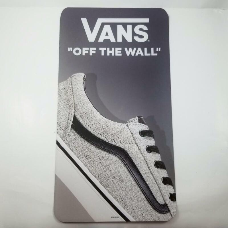 Vans Off the Wall Skate Shoes Store Display Sign Magnet Poster 19x10 Skateboard