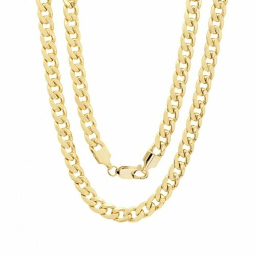 """10K Solid Yellow Gold Cuban Link Chain Necklace 16""""- 30"""" Men"""