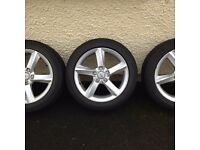 Audi A4 A6 17 Inch Alloy Wheels and Tyres