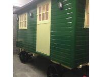 Shepherds hut, Living van, Glamping, Trailer, Holiday let. Garden, Summer house.