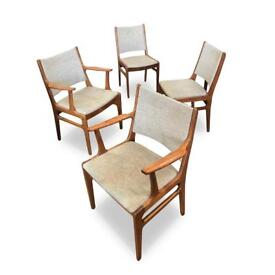 Cool set of Scandinavian retro style dining chairs. Great vintage condition