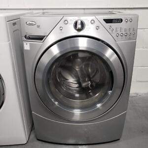 WASHER AND DRYER SET GRAY WHIRPOOL MODEL WFW9550WL00 WITH WARRANTY!